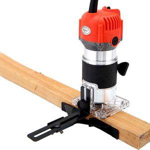 220 V 620 W Trimmer Borda Elétrica Laminado Mini Madeira Router 6.35mm Collet Carving Máquina Carpintaria Ferramentas Elétricas Para Trabalhar Madeira