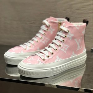 새로운 원래 상자와 여성 스니커즈 STELLAR SNEAKER BOOT 패션 여성 캐주얼 스니커즈 1A5U0H 하이 탑 운동화 캐주얼 신발 여자