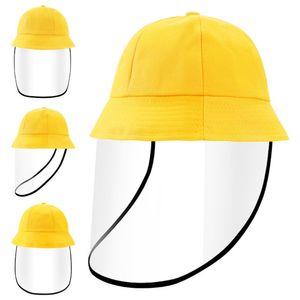 Shanghai Story Bucket Hat with Full Face Shield for Kids Anti-Spitting Protection Anti Saliva Fog UV Hat for Girls Boys