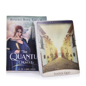 53 Pcs Cartões O Quantum a Oracle Cartas de Tarô Inglês Orientação Adivinhação Fortune jogo de tabuleiro para Partido Entretenimento