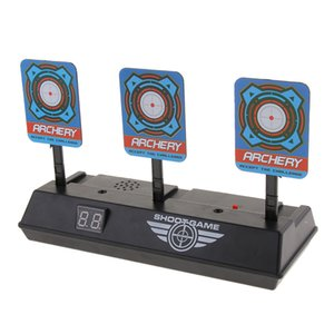 Auto Reset Electric Scoring Digital Target with Light & Sound Effects for Guns Blaster Kids Shooting Game Accessory