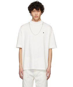 Mens Designer T Shirts Fashion Brand High Street AMBUSH 20SS Necklace Chain Decoration Letter Embroidery Short Sleeve Casual Clothes S-L