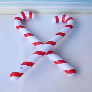 Christmas Inflation Walking Sticks Stripe Pattern 87cm Xmas Party Supplies Christmas Crutches For Festival Inflatable Toys