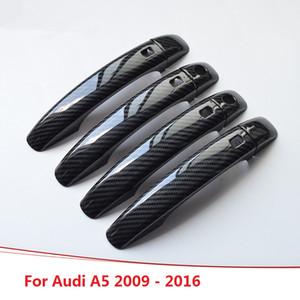 Карбоновая печатная автомобильная наружная крышка дверной ручки Крышки наружной чаши для Audi A5 2009 2010 2011 2012 2013 2014 2015 2016