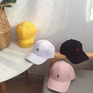 Letter embroidery boys and girls summer and Han version with sun protection and sun shading cap. The style is sample.