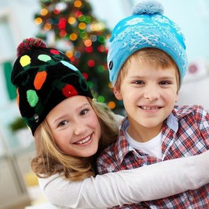 Winter Cap Gifts Hot LED Light Warm Protective Festival Beanie Christmas Tree Hat 2020 Christmas Hat