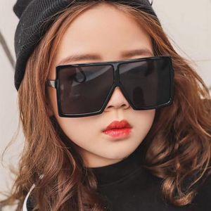 Завышение Square Детские солнцезащитные очки Девушки мальчиков фестиваль Панк Солнцезащитные очки UV400 очки Дети óculos De Sol
