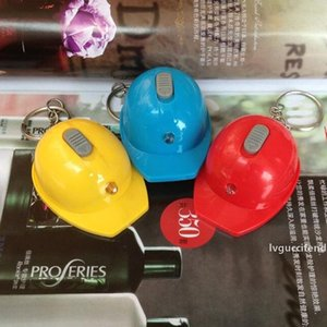 Multifunctional Plastic LED Helmet Key Chains Bottle Opener Keyrings Birthday Business Gifts Promotion Free Shipping ZA5329