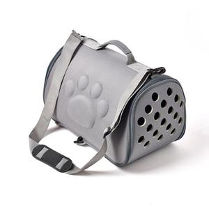 الحيوانات الأليفة الكلب إيفا الناقل القط ثقوب أكياس الحيوانات الأليفة سلة جرو حقيبة الهواء للطي إمدادات قصر حقيبة يد قفص (42 * 26 * 26 سنتيمتر) م نقل القابلة للطي rtaef