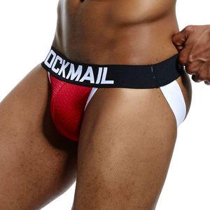 4 couleurs JOCKMAIL Sexy Gay Sous-vêtements Hommes Transparent Jockstrap cordes Homme Slip sexy érotique Homens hommes Thongs et G Strings Cueca Gay