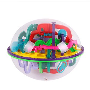 3D Magic Intellect Maze Ball Castle Logic Big Puzzle Ball Educational Magic Intellect Puzzle Game Balls 100-299 Steps Kid Toys MX200414