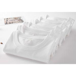Großhandel Customized Frauen weißes Baumwollhemd kurze Hülsen-beiläufiges T-Shirt