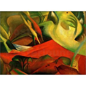 Landscapes paintings abstract wall art Storm August Macke hand painted oil canvas home decor