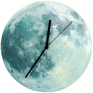 Timelike 빛나는 달 벽 시계 방수 P 아크릴 빛나는 매달려 시계 달 거실 침실 장식 30Cm