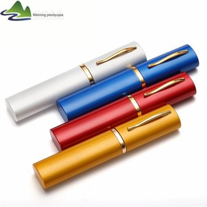 color Color for glasses Pen reading glasses portable aluminum alloy pen container hanging plastic aluminum alloy box