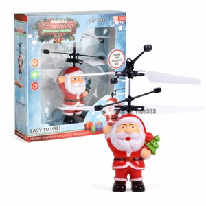 Летающие индуктивный Mini RC Drone Рождество отец Санта Клаус RC вертолет подарки магия Рождественский подарок SRC Aircraft для детей мальчиков
