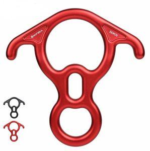 Klettern Abseilgerät OX Horn 8 Abseilgerät Ring bergab acht Ring mit Bent-Ohr Abseilen Getriebe Belay Ausstattung Gerät