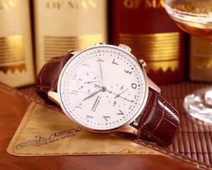 2019 Deluxe mecánico automático para hombre Calendario correa de cuero Diseñador Reloj Moda Casual Lujo Nuevo árabe Digital Dial Reloj para hombre