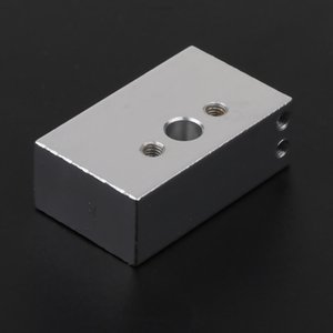 Chauffage en alliage d'aluminium Bloc-métal 33 Tous x 20 x 10 mm Accessoires pour partie Extrudeuse DIY 3D Printer Hot End, Argent