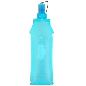 500ml Ordu Yeşil TPU Açık Spor Şişe Yumuşak Flask Katlanır İçecek Su Şişesi Kamp Yürüyüş Bisiklet Fitness Çalıştırmak için