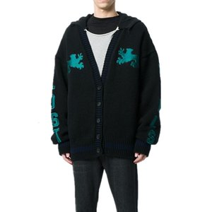 19SS Season5 Kanye Strickjacke Pullover Männer Frauen Hightstreet Cardigan Jacke Herbst-Winter-Mäntel Art und Weise Outwear Aufmaß HFYMJK277