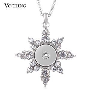 NOOSA Ginger Snap Jewelry Sunflower Necklace for 18mm Pendant with Crystal Stainless Steel Chain NN-548