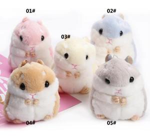 Hamster Anahtarlıklar Çocuklar Kawaii Sevimli Peluş Hamster Karikatür Hayvan Küçük Hamster Bebek Doldurulmuş Fare Çanta Kolye Yenilik Öğeleri