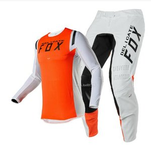 2020 New Fox Head Racing Flex Negro Jersey Pantalones Set MX SX-o-terreno equipos de adultos combinados Juego