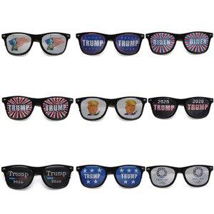 Trump 2020 Sunglasses USA Flag American President Election Rice Nail Sunglasses Plastic Sports Sunglasses Party Favor LJJA4069