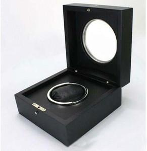 الخشب الراقية تصنيع الساعات تصميم صندوق زجاجي مع الفولاذ المقاوم للصدأ تصميم خاتم الداخلية.