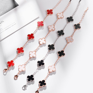 Brand classic design four clover charm bracelet European and American hot selling women's fashion luxury jewelry Best Christmas gift