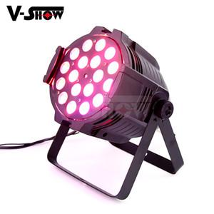 VShow etapa de lavado PAR etapa luz con zoom RGBWA-UV 18W * 18 LED de la colada de luz DMX Par puede w / zoom