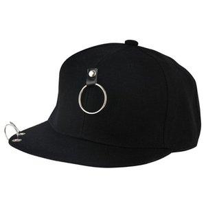 Kids Hip Hop Piercing Ring Punk Caps Women Black Pin Snapback Summer Baseball Hats Men Fitted Dance Rap Basketball Visor Dad Cap