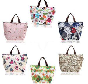 Flower Oxford Picnic Thermal Bag Neoprene Lunch Bag Food Cooler Bags Thermal Women Handbag Women Messenger Bags SN900