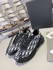 2020 Men Women Casual Shoes Fashion Luxury Designer Sneakers Lace-up Running Shoes Stripe Black Leather Bee Embroidered xshfbcl