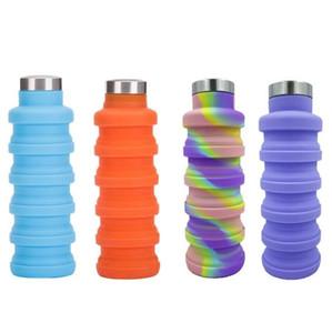 머그컵 망원 컵 야외 스포츠를 마시는 휴대용 여행 실리콘 물병 접을 수있는 접이식 컵은 BPA 무료 공급