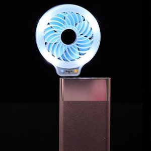 USB LED Fan Mini Fill Portable Power Light Fans 2 colori Night Light Pocket Piccolo Fan Partito OOA8014 favore