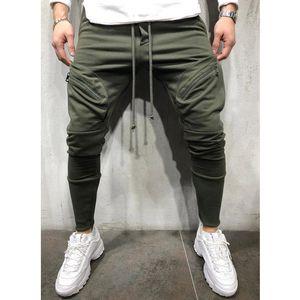 Yaz Moda Erkek Pamuk Pantolon Uzun Casual İnce Fermuar Yüksek Bel Pantolon Slim Fit Çizim Dize Çalışma Pantolon
