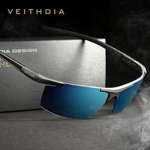 VEITHDIA Aluminum Magnesium Sunglasses Polarized Men Coating Mirror Driving Sun Glasses Oculos Eyewear Accessories KT2