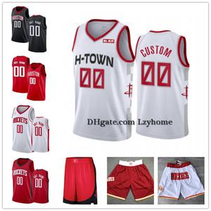 Costumbre James Harden 13 Russell Westbrook 0 10 Eric Gordon HoustonPantalones cortos de cohetes Robert 33 Covington PJ Tucker 17 jerseys del baloncesto