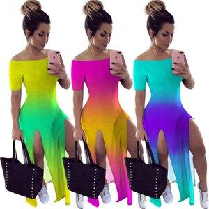 Kadınlar Tie-boya Yaz Elbise Tasarımcı Mini etek Tek Parça Elbise Yüksek Kalite Skinny Elbise Moda Lüks Clubwear 7788