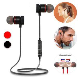 S5 inalámbrico auriculares estéreo metal magnético Bajo Auriculares inalámbricos Sport Headset auriculares con micrófono con el paquete al por menor