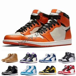 Nike Air Jordan 1 AJ1 Retro أحذية قصارى جهدها جودة 1 العليا OG ترافيس سكوتس صبار جاك الجلد المدبوغ الظلام موكا TS SP 3M كرة السلة للرجال النساء 1S منخفضة ترافيس سكوتس حذاء رياضة