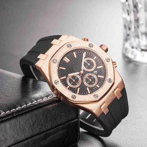Wholesale 싸네 가격 남자 스포츠 손목 시계 45mm 쿼츠 무브먼트 Mens Luxury Watch 고무 밴드 Royal Oak Offshore Mens Designers Watch