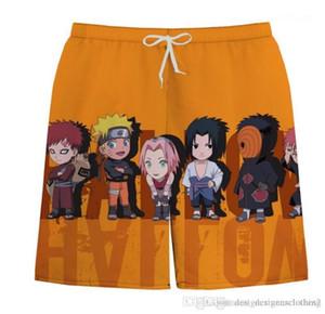 Board Shorts été imprimé en vrac Hommes Shorts Fashion Designer Homme pantacourt Hommes Naruto Plage