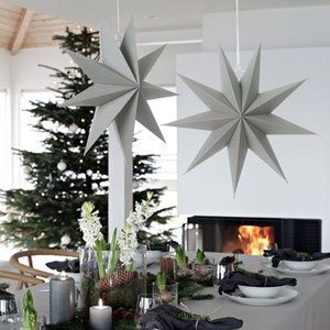 Kağıt Yıldız Noel Dekorasyon Home For Noel Süsler Yeni Yılınız Kutlu Olsun 2020 süslemeler Noel kolye Ev Dekorasyonu Asma
