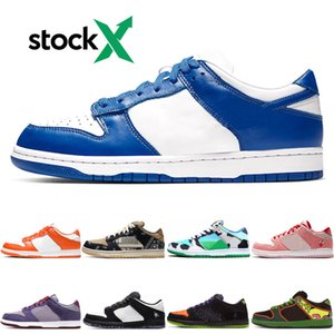 Stock X Dunk Low Ben and Jerrys Chunky Dunky Designer Skateboard Shoes University Red Syracuse Safari Bred sport sneakers mens casual shoes