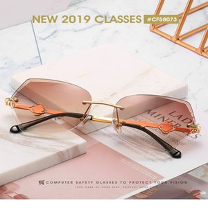 Trimmed rimless sunglasses Xinfeimeng Fashion Rimless Oversized Cutting Lens Trimmed rimless lowest price high visibility best place buy OWL