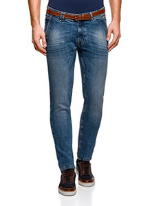 oodji Ultra Men's Basic Slim-Fit Jeans
