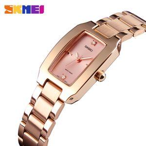Plata reloj de cuarzo de moda delgada señoras de los relojes del vestido ocasional de lujo de las señoras del Rhinestone impermeable Relogio Femenino 1400 Moda